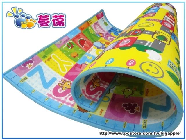 【淘氣寶寶】《蔓葆嬰兒爬行墊 》大富翁+歡樂字母雙面2cm特厚款 200x160x2.0cm遊戲墊/地墊/保潔墊