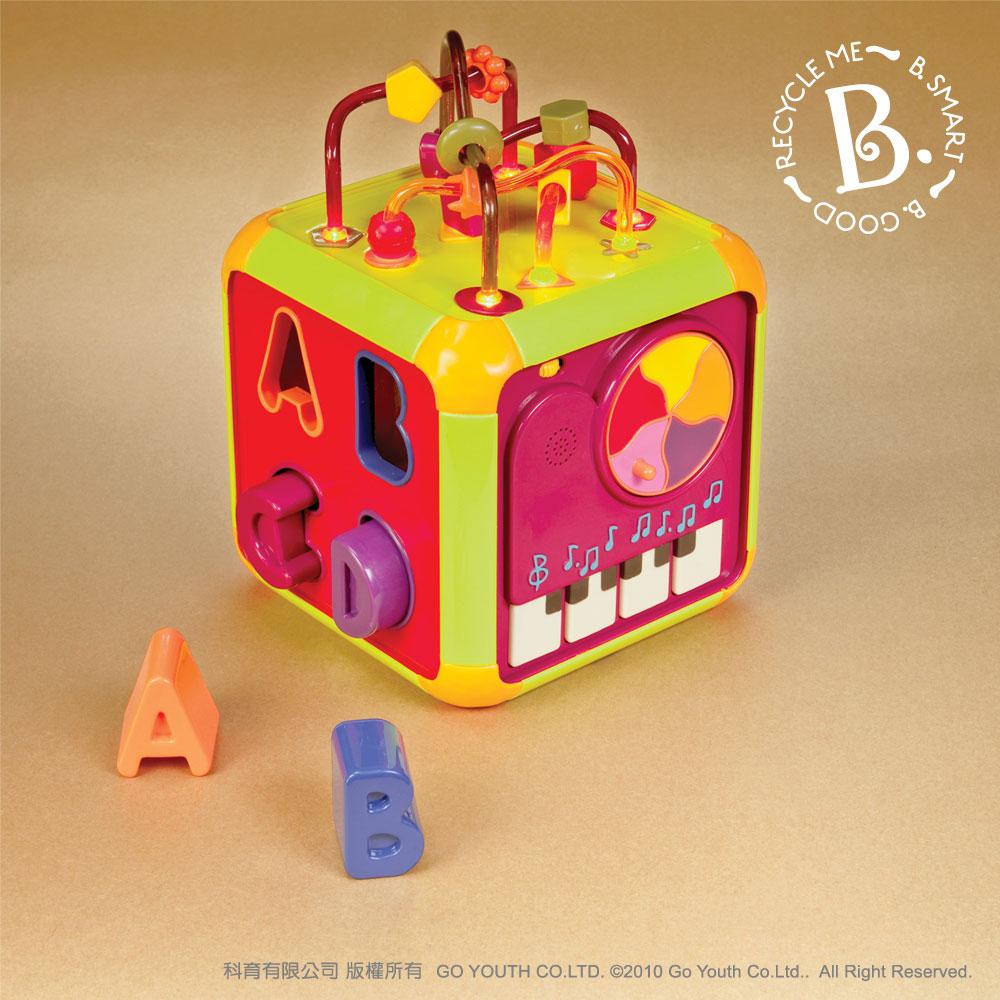 【淘氣寶寶】美國B.Toys感統玩具-時間方塊 /益智玩具
