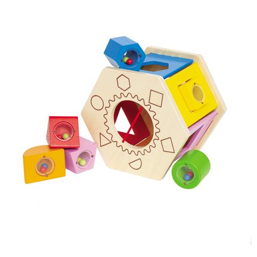 【淘氣寶寶】德國 Hape 愛傑卡 六角分類積木盒