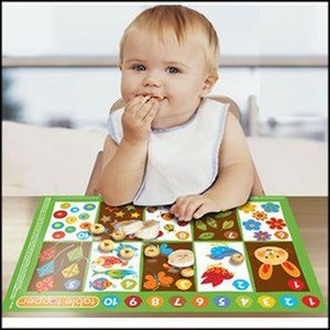 【淘氣寶寶】『H Neat Solutions Table Topper 拋棄式餐墊/桌墊 數數123 (20入)