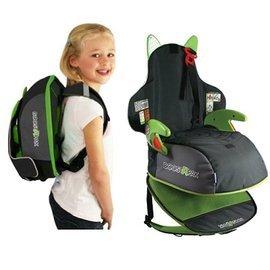 【淘氣寶寶】英國Trunki BoostApak ☆兒童專用增高椅背包(汽車安全座椅與背包)(綠)【保證原廠公司貨】