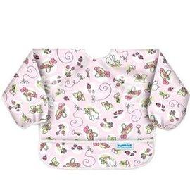 【淘氣寶寶】2016年最新 美國Bumkins防水兒童3-5歲 圍兜(長袖)-粉紅兔兔 BKAS-202【保證公司貨】