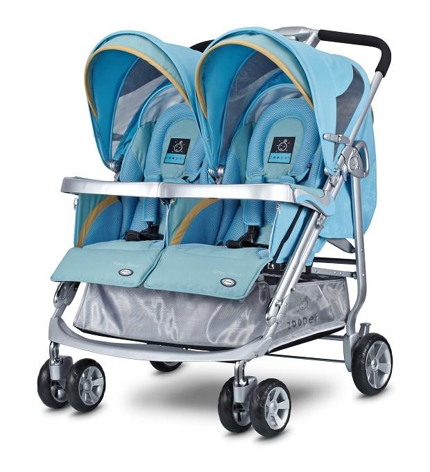 【淘氣寶寶】美國 Zooper Tango Smart 雙人推車【露草藍】史上功能最強,舒適性最優的雙人嬰兒手推車