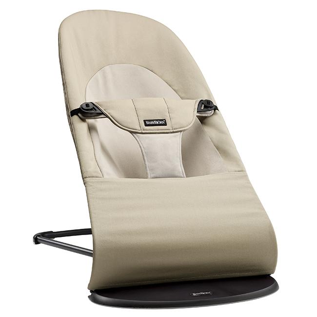 【淘氣寶寶】BabyBjorn Bouncer Balance Soft 柔軟彈彈椅-卡其【彈椅自然擺動不需使用電池/符合人體工學】【正品】