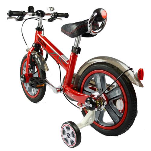 【淘氣寶寶】英國原廠授權Mini Cooper 兒童腳踏車14吋(紅)【贈純植物精油防蚊液 60ml】