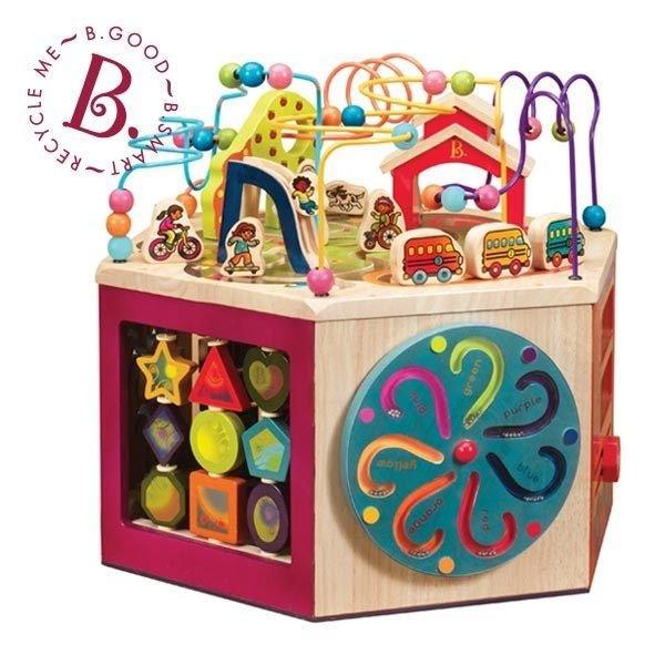 【淘氣寶寶】【美國B.Toys感統玩具】 快樂角大學