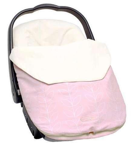 【淘氣寶寶】JJ Cole 多功能防風防雨保暖腳套/保暖毯/睡袋JJ Cole Infant Bundle Me Lite Pink Leaf 手推車/汽座皆可使用