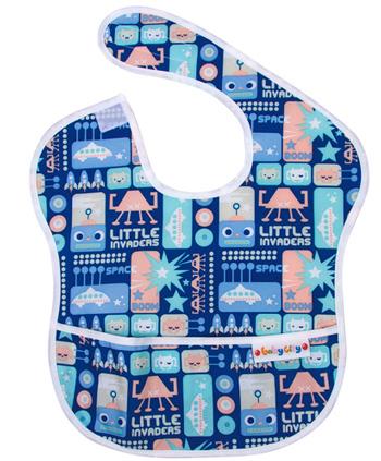 【悅兒樂婦幼用品?】Baby City 防水圍兜-藍色機器人(6-24個月)