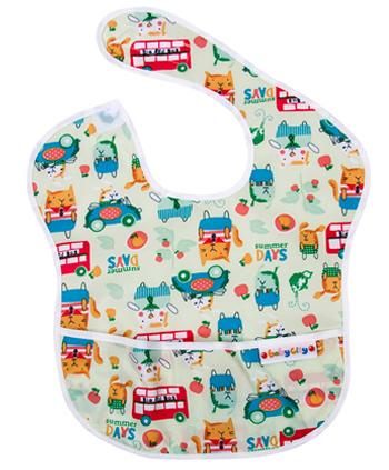 【悅兒樂婦幼用品?】Baby City 防水圍兜-綠色貓公車(6-24個月)