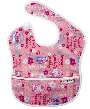 【悅兒樂婦幼用品?】Baby City 防水圍兜-粉色兔子(6-24個月)