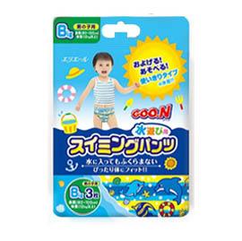 【悅兒樂婦幼用品?】GOO.N 日本大王 幼兒戲水專用紙尿褲-男生款-3枚入(Big)