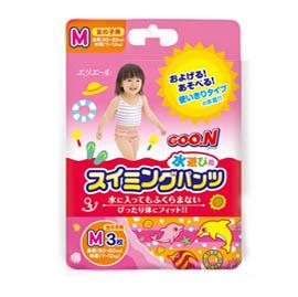 【悅兒樂婦幼用品?】GOO.N 日本大王 幼兒戲水專用紙尿褲-女生款-3枚入(M)