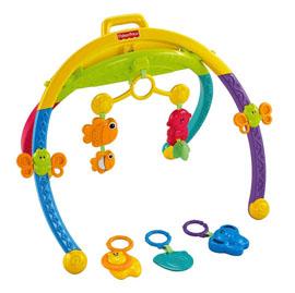 【悅兒樂婦幼用品?】Fisher-Price 費雪 二合一動物摺疊健身器