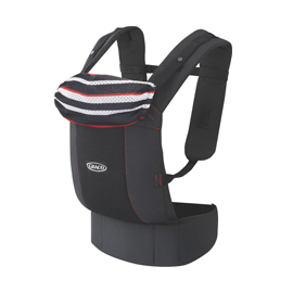 【悅兒樂婦幼用品?】GRACO 嬰幼兒腰帶型前後式雙向揹巾Roopop-黑彩蝶