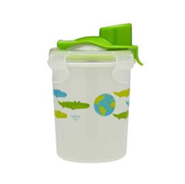 【悅兒樂婦幼用品?】美國Innobaby 不銹鋼防漏水杯8oz(250ml)-綠色鱷魚