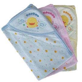 【悅兒樂婦幼用品?】Piyo 黃色小鴨 健康布夏季包巾