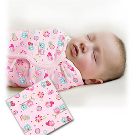 【悅兒樂婦幼用品?】 美國Summer Infant 聰明懶人嬰幼兒睡袋包巾【純棉系列-甜蜜貓頭鷹】