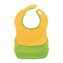 【悅兒樂婦幼用品?】Combi 康貝 優質攜帶式圍兜-綠