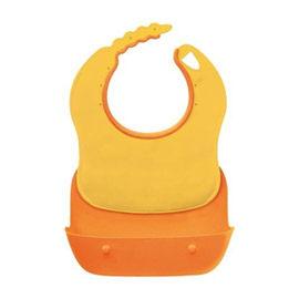 【悅兒樂婦幼用品?】Combi 康貝 優質攜帶式圍兜-橘