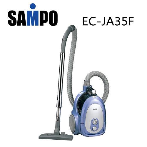 【威利家電】【刷卡分期零利率+免運費】聲寶 350W龍捲風吸塵器EC-JA35F