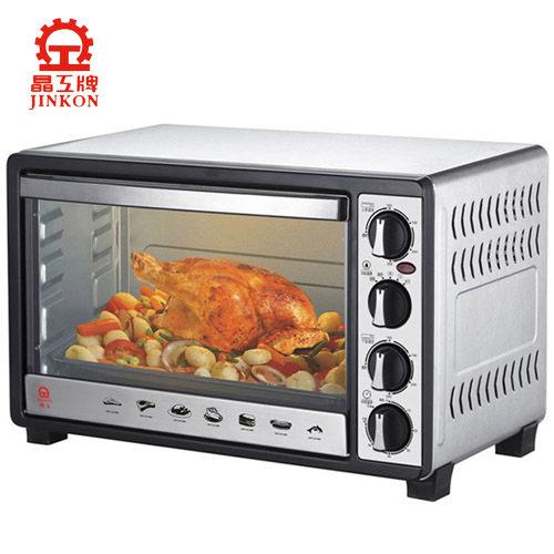 【威利家電】【刷卡分期零利率+免運】 晶工牌 30L雙溫控不鏽鋼旋風烤箱 JK-7300
