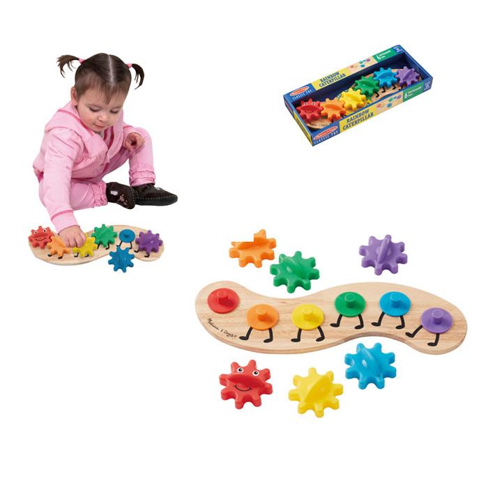 【華森葳兒童教玩具】益智邏輯系列-毛毛蟲齒輪遊戲 N7-3084