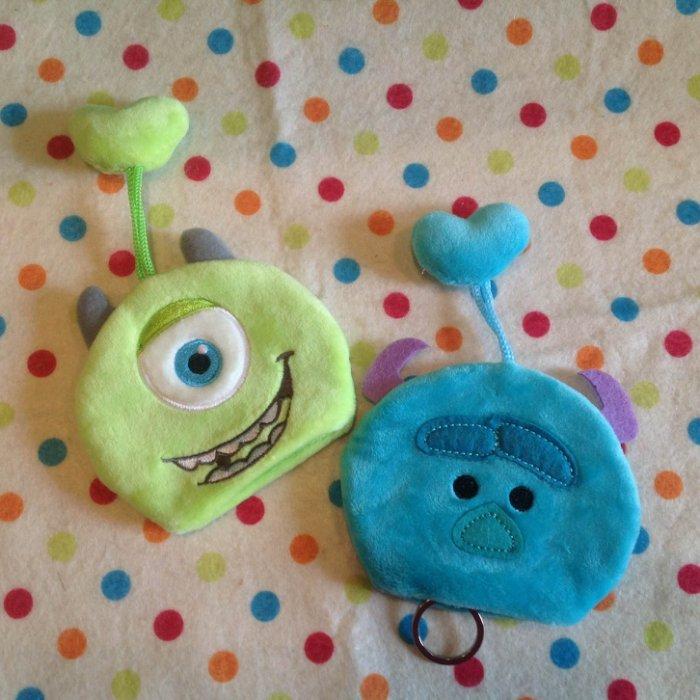=優生活=迪士尼tsum tsum 疊疊樂大眼仔 毛怪鑰匙包 鑰匙套 鑰匙圈 收納袋 收納包