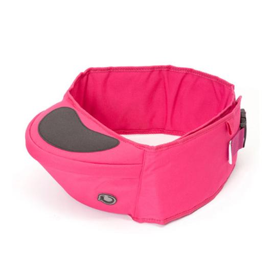 英國 Hippychick Hipseat 新款坐墊式抱嬰腰帶(防滑軟座墊) 桃紅色*夏日微風*