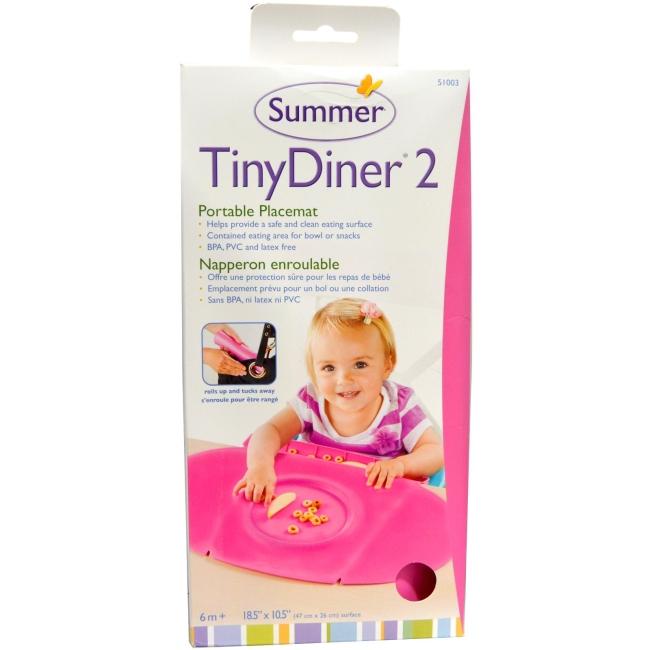 美國 Summer Infant 防水學習餐墊 Tiny Diner 2 第二代 粉紅色 *夏日微風*