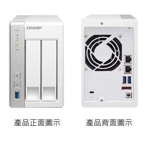 *╯新風尚潮流╭* QNAP網路儲存設備 NAS網路系統伺服器 X31 2顆 SATA硬碟用 2年保固 TS-231
