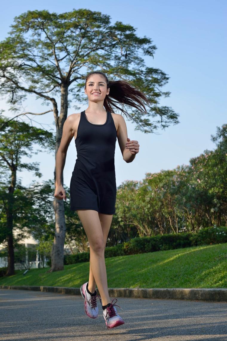 TH3 YOGA 1818 黑色瑜伽上裝連身裙款式 網球服 羽毛球服體操服