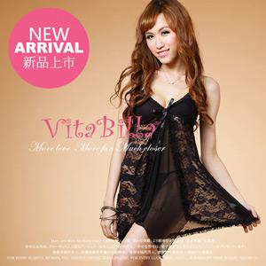 【伊莉婷】VitaBilla 激情小惡魔 睡裙+小褲 二件組 A003720637