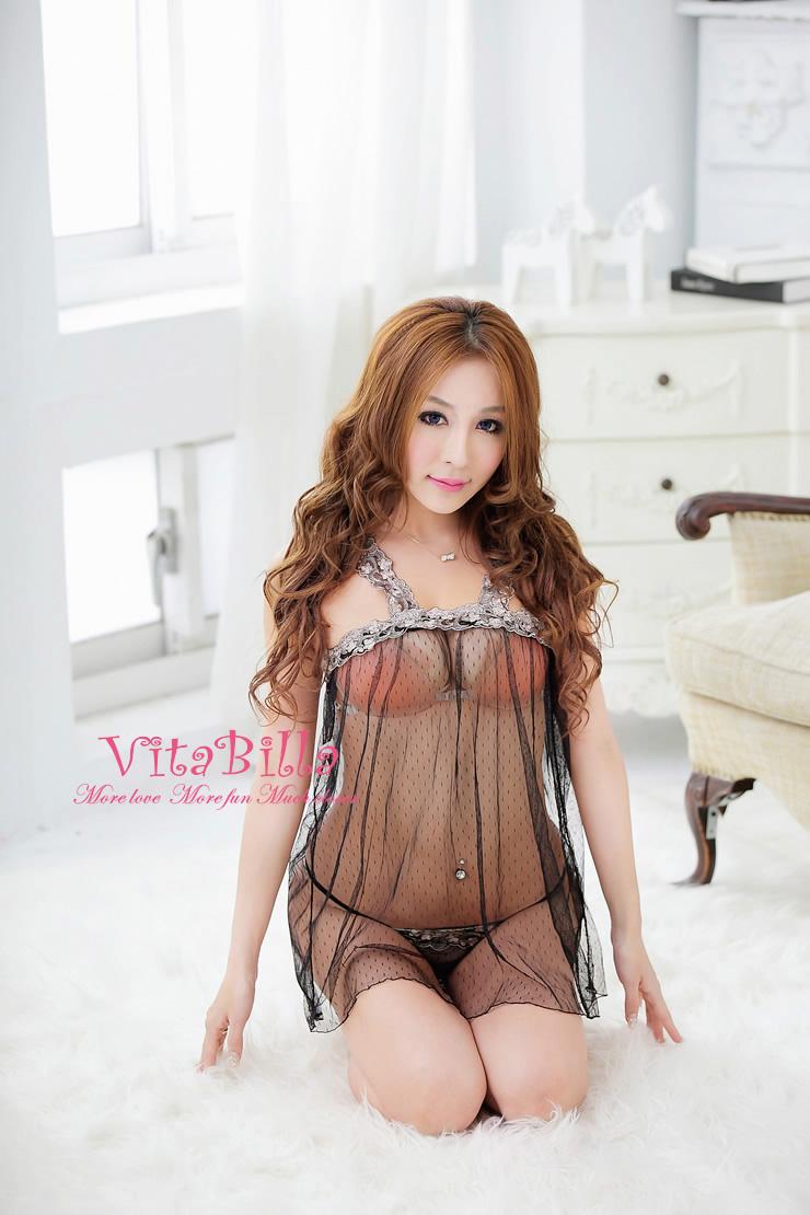 VitaBilla 午夜精靈 睡裙+小褲 二件組