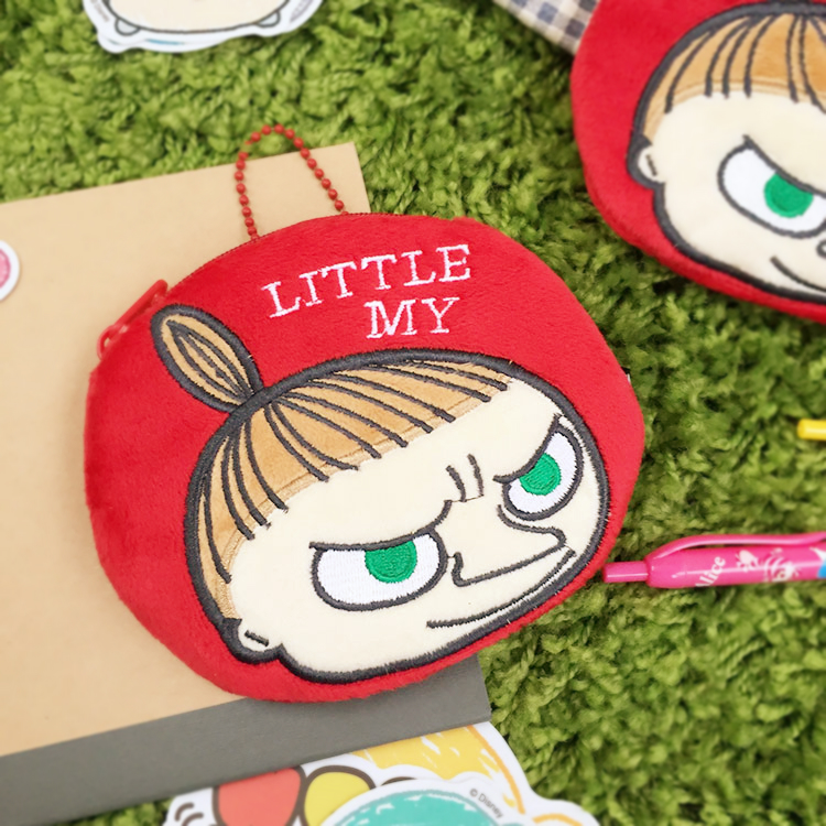 PGS7 日本卡通系列商品 - 嚕嚕米 Moomins 小不點 Little My 圓型 零錢包 收納包 紅底款