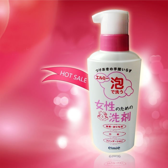 日本elmie 女性去血污泡沫清潔劑-200ml 生理期專用 適用口紅、血液、粉底、汗漬