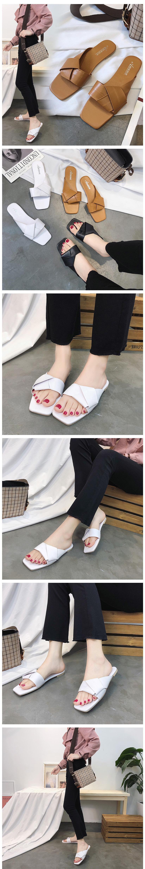 隨性好穿涼鞋 簡單好搭交叉打結拖鞋 艾爾莎【TSB8792】