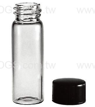 《美製》螺蓋樣本瓶 黑蓋橡膠墊片 Vail, Sample, Screw Thread, Rubber Lined Closure