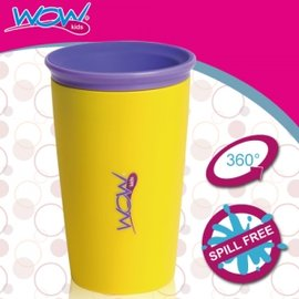 Baby Joy World-【美國Wow Cup】 360度神奇喝水杯-黃色
