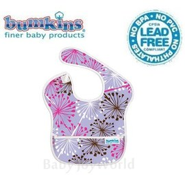 圍兜口水巾-美國Bumkins Super Bib透氣防水防臭兒童圍兜口水巾-蒲公英(S901)