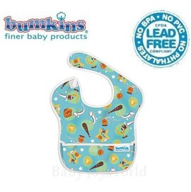 圍兜口水巾-美國Bumkins Super Bib透氣防水防臭兒童圍兜口水巾-棒球之星(S206)