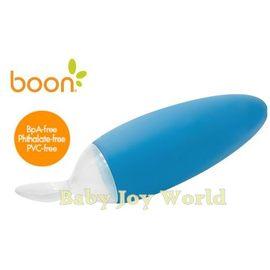 副食品餵食器-Baby Joy World-美國boon 嬰兒副食品擠壓式安全餵食湯匙【離乳副食品好幫手】-天空藍
