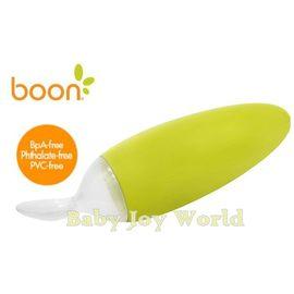 副食品餵食器-Baby Joy World-美國boon 嬰兒副食品擠壓式安全餵食湯匙【離乳副食品好幫手】-奇異果綠