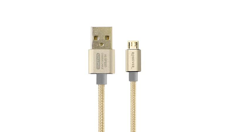 樂點生活●laclick 2.5A鋁合金充電傳輸線-金 VPC-85-2