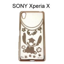 迪士尼電鍍軟殼[項鍊]史迪奇 SONY Xperia X F5122【Disney正版授權】
