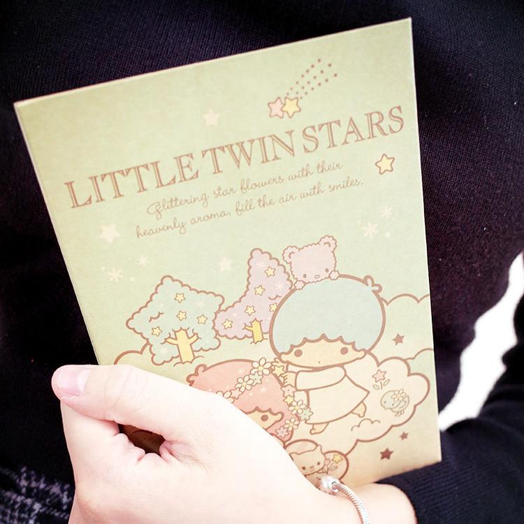 PGS7 三麗鷗系列商品 - 三麗鷗 雙子星 Kikilala 隨身 方格 筆記本 記事本 Twins【SHU7041】