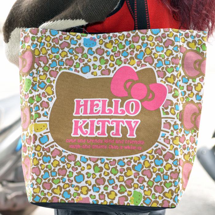 Hello Kitty 帆布手提袋 AMONNLISA 日本正版