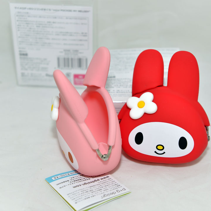 日本正版 mimi POCHI 矽膠零錢包 My Melody 美樂蒂