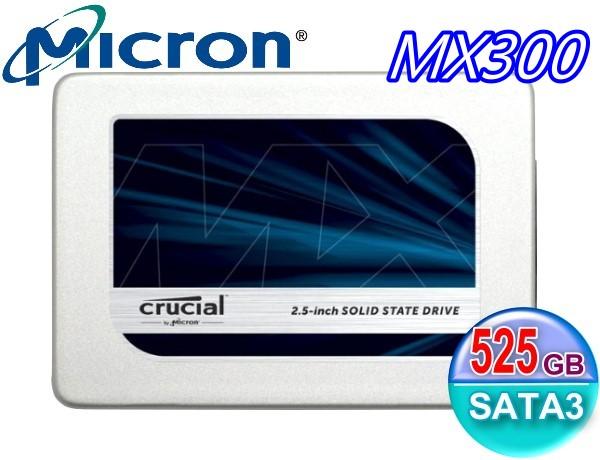 Crucial 美光 Micron SSD MX300 TLC 7mm 525G 525GB SATA3 固態硬碟