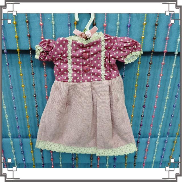 ↙特價↘小洋裝擦手巾《Q3-4》鄉村洋裝造型擦手巾 鄉村風擦手巾 含衣架◤彩虹森林◥