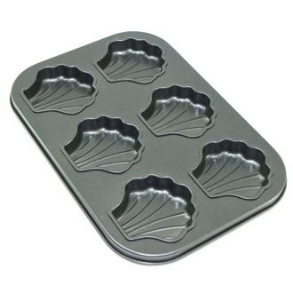 【珍昕】三箭牌6464NS 不沾 六連貝殼造型烤盤(扇型)